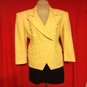 Christian Dior Yellow And Black Skirt Suit 4